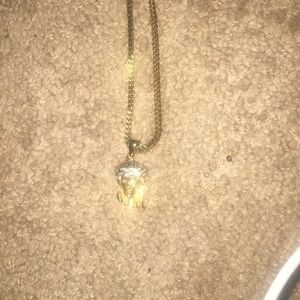 Gold Plated Jesus Piece